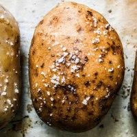 Baked Potatoes With Pancetta & Gorgonzola