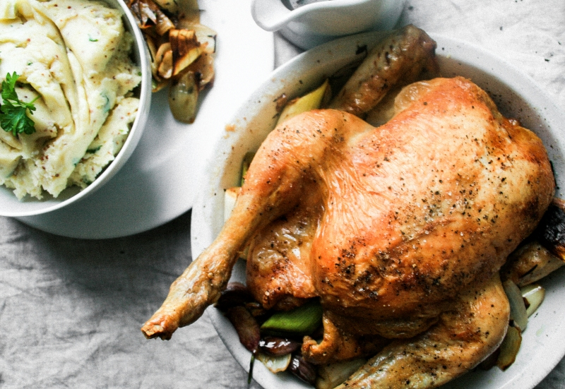 Chicken With Roast Onion And Thyme Gravy [Nigel Slater Project #26]