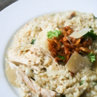 Oozy Leftover Roast Chicken Risotto [Nigel Slater Project #27]