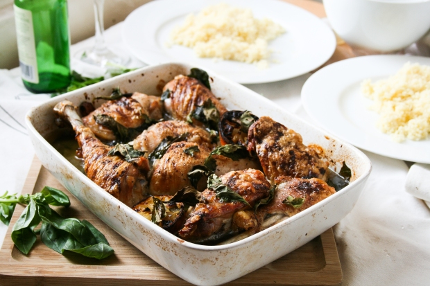 Roast chicken with lemon basil nigel slater project 33 the and we are back with another recipe from nigel slaters real good food a simple so so easy to do dish consisting of ingredients that just work forumfinder Image collections